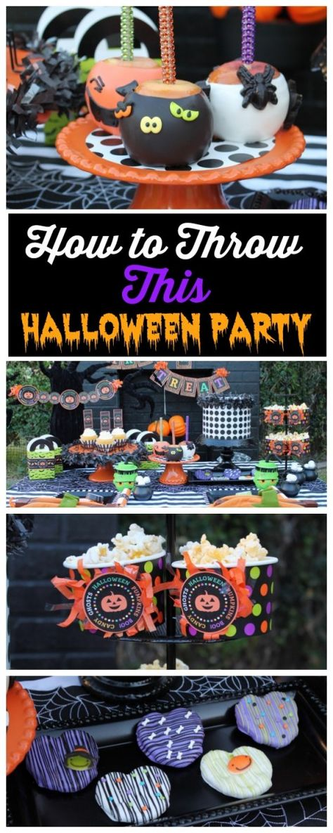 Learn how to throw this toddler Halloween party! See more party ideas at CatchMyParty.com.
