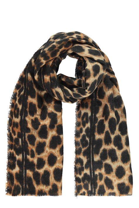 Spring Fall Summer Scarf Light Wrap Long Shawl Oversize Leopard Cheetah Spots
