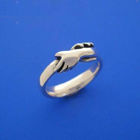 Silver Hands Ring  Hand Made Solid Silver by ijewellery on Etsy, $42.00