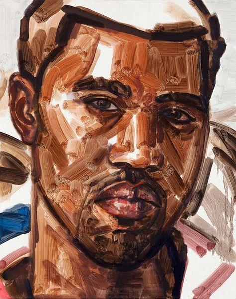 ELIZABETH PEYTON Kanye, 2010-2011  Oil on linen covered board 15 × 12 1/4 in 38.1 × 31.1 cm
