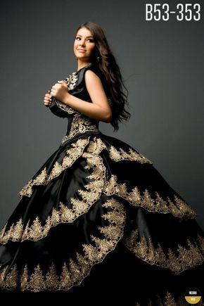 Quinceanera designs with beautiful applique, embroidery, beading and majestic quality.   Ragazza Fashion Black and Gold Quinceanera Dress Colors: Black/Gold.   #Ragazza #quincelebrations #elegantboutique #quince