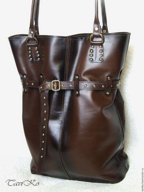 2dcf9dd39c75 Купить Сумка из натуральной кожи коричневая - сумка ручной работы, сумка  женская