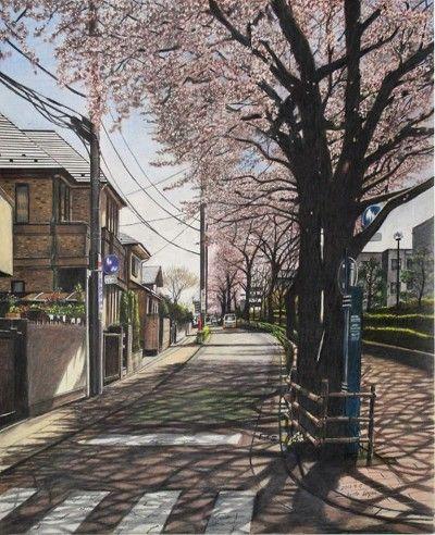 Pohon Sakura Di Jalanan Kota Jepang Kredit Foto Ryota Hayashi Pemandangan Anime Wisata Jepang Fotografi Alam