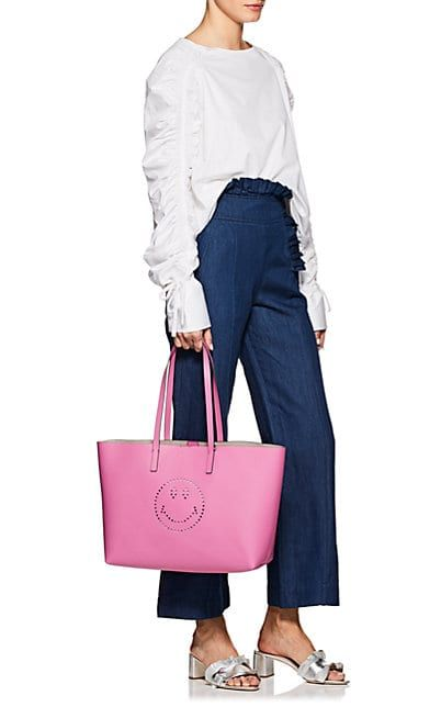 5625ab00010d Anya Hindmarch Smiley Ebury Shopper Leather Tote Bag - Tote Bags - 505519863