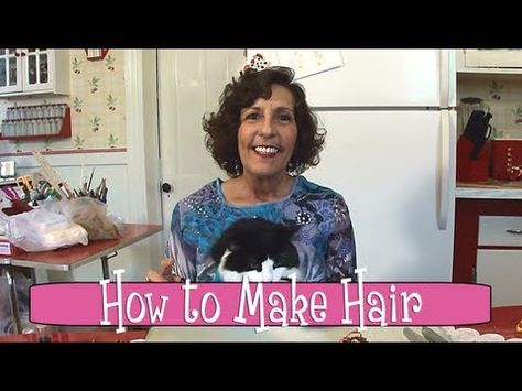 Polymer Clay Tutorial - How to Make Hair