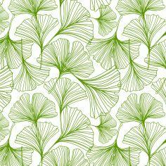 Ginkgo Leaf Jessica Swift Green Wallpaper Leaf Illustration