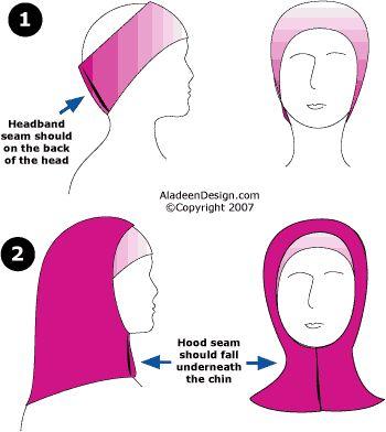 How to wear a 2 pice amira hijab set.