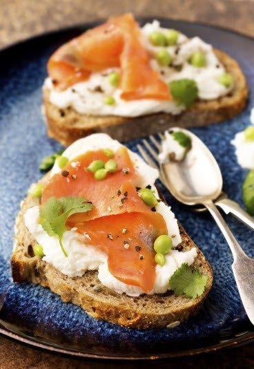 Tartine saumon mascarpone, recette rapide, recette simple - Recettes de tartines: recette simple et rapide de tartine