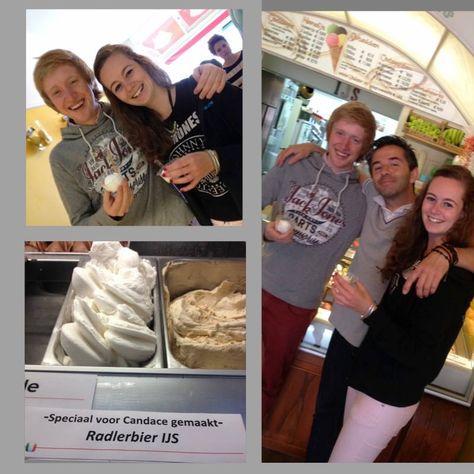 Candace is jarig  Vandaag is Candace jarig, wij vieren dat dankzij Maarten met speciaal voor haar gemaakt Radlerbier ijs! #bier #ijs wij maken ijs geen verhalen.