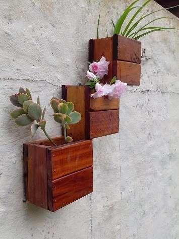 macetas de madera colgantes - buscar con google | palet jardín