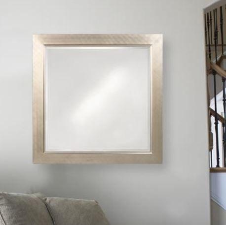 Howard Elliott Millennium Silver Mirror Small Lighted Wall Mirror Wall Mirrors Horizontal Rustic Wall Mirrors