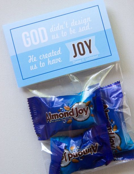 Student Gifts Discover LDS Joy gift tag and bag topper for yw girls camp pillow treat ministering gift devotional rs handout Secret Sister Gifts, Secret Pal, Jw Gifts, Craft Gifts, Student Gifts, Teacher Gifts, Pillow Treats, Pioneer Gifts, Jw Pioneer
