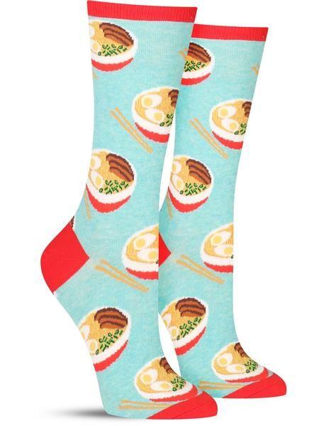 2 Colors Hot Sox Women/'s Hot Ramen Noodles Crew Socks