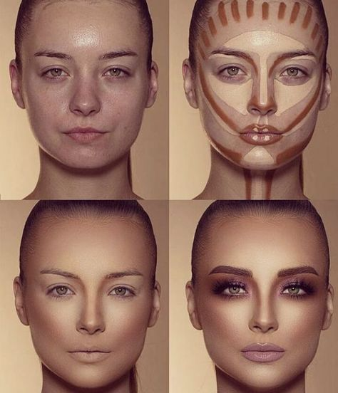 How To Do Make-up – Step By Step Ideas For The Good Look Spotlight contour hypnaughty.make-up samer khouzami mild pores and skin Makeup Contouring, Contouring And Highlighting, Skin Makeup, Makeup Cosmetics, Highlight Contour Makeup, Contouring For Beginners, Contour Makeup Products, Makeup Eyeshadow, Drugstore Makeup