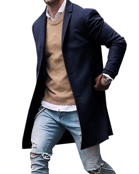 Winter Trench Coat, Trench Coat Men, Mens Winter Coat, Winter Clothes For Men, Mens Long Coat, Winter Jackets For Men, Mens Fleece Jacket, Jacket Men, Mens Wool Coats