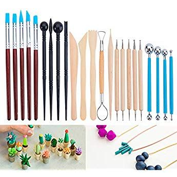 Benecreat 23pcs Ball Stylus Dotting Modelisation Outils Pottery