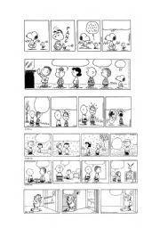 English Worksheet Peanuts Garfield Blank Comic Strips 1 5