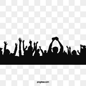 Cheering Crowd Silhouette Vector Material Vector Material Vector Design Png Transparent Clipart Image And Psd File For Free Download Ilustrasi Vektor Bersorak Ilustrasi