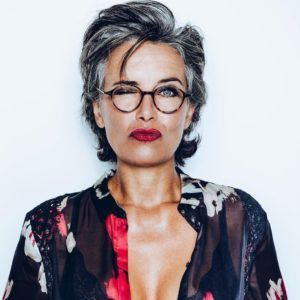 Hairstyles For 50 Year Old Woman With Glasses Grey Hair Glasses