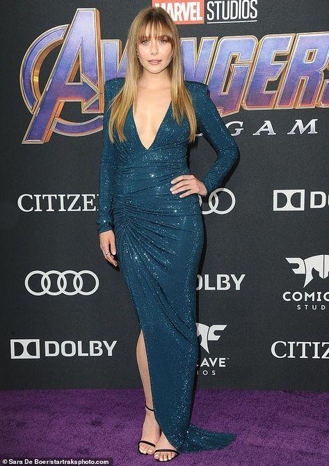 Elizabeth Olsen Stuns In Gleaming Dress At Avengers Endgame Premiere Elizabeth Olsen Style Elizabeth Olsen Nice Dresses