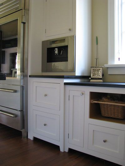 Shaker style kitchens on pinterest for White mission style kitchen cabinets