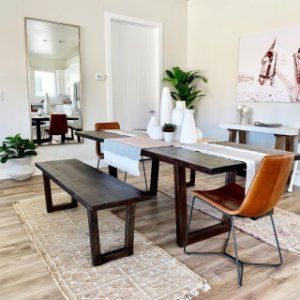 Logan Industrial Expandable Dining Table Smoked Brown