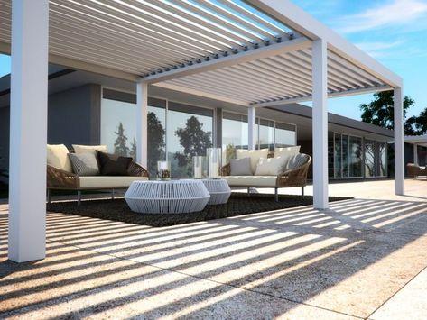 Terrassenüberdachung mit Holz-Pergola Schöne, modern designte - interieur mit holz lamellen haus design bilder