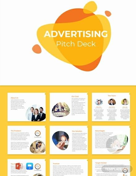 Instantly Download Free Advertising Pitch Deck Template Sample Example In Microsoft Powerpoint Ppt Apple Keynote Format Avai In 2020 Free Advertising Pitch Deck