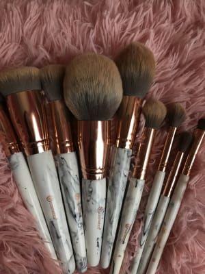 Bh Cosmetics Marble Luxe 10 Pc Brush Set Ulta Beauty Make Makeup Diy Beauty Makeup Makeup Brushes
