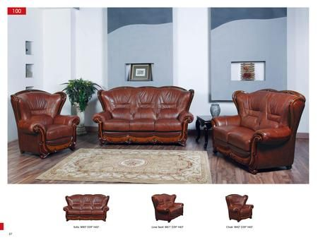 Esf 100 Leather Chair I6314 Brown Appliances Connection Leather Living Room Set Living Room Leather Living Room Sets