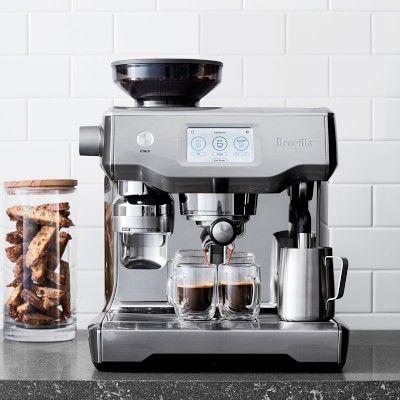 Breville Oracle Touch Espresso Machine Black Truffle Williams Sonoma Automatic Espresso Machine Espresso Machine Best Espresso Machine