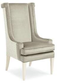 Caracole Classic Purrr-Fect Wingback Upholstered Dining Chair Caracole Classic