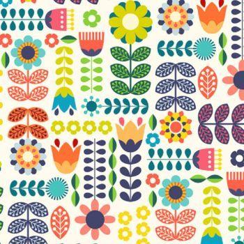 Swedish Design 64 Pieces Modern Folk Art Folk Art Flowers Scandinavian Folk Art