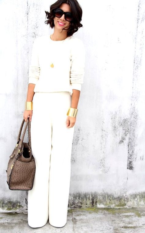 28 Sophisticated Winter White Dress Outfits Ideas With Pants To Try