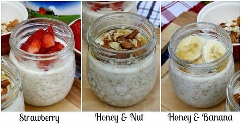Overnight Refrigerator Oatmeal + Yogurt Fruit Dippers  - Quick and Easy Yogurt Breakfast Ideas. Products available at Walmart.