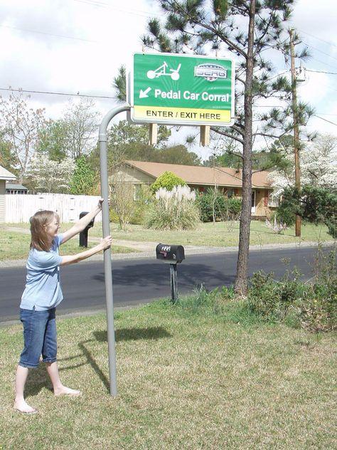 Custom BERG road sign - very cool Alex!