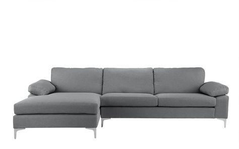 Prime Amanda Modern Linen Large Sectional Sofa Home Idea In 2019 Short Links Chair Design For Home Short Linksinfo