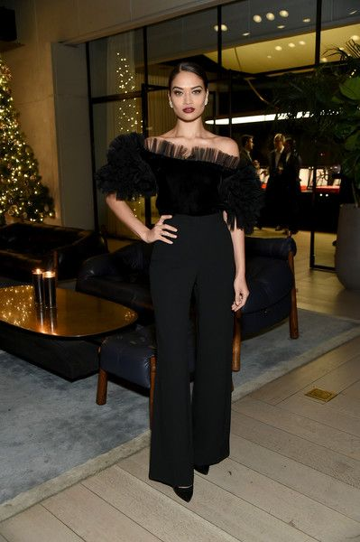 Model Shanina Shaik attends the CR Fashion Book Celebrating launch of CR Girls 2018.