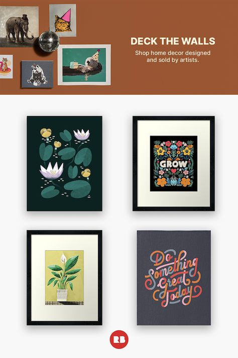 Deck the walls with unique designs. Shop weirdly meaningful gifts.