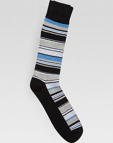 English Laundry Blue And Gray Stripe Socks Socks Men S