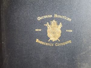 Details About 1908 Early American Ledger Of German American