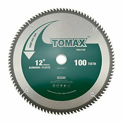 Tomax 12 Inch 100 Tooth Tcg Aluminum And Non Ferrous Metal Saw Blade With 1 I Ebay In 2020 Non Ferrous Metals Saw Blade Circular Saw Blades