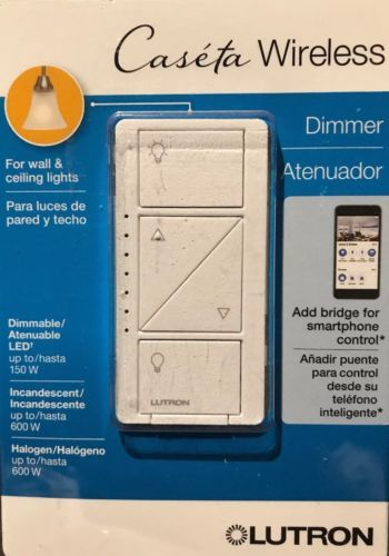 Dimmers 41984 Lutron Caseta Wireless 150 Watt Single Pole Wall Dimmer White Pd 6wcl Wh R Buy It Now Only 48 99 On Lutron Light Dimmer Switch Dimmer