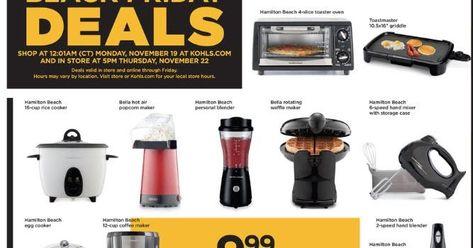 Kohl S Black Friday Sale Begins Tonight Small Kitchen Appliances