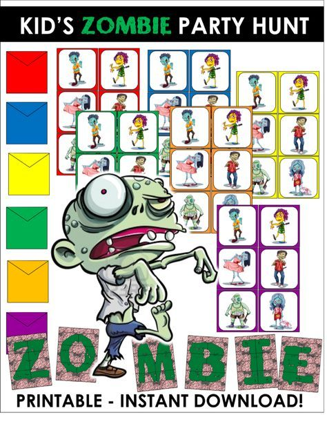 Free Zombie Printables From Party Fun Box The Catch My Party Blog