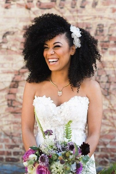 Applique Flowers - What Real Bohemian Brides Wore Down the Aisle - Photos