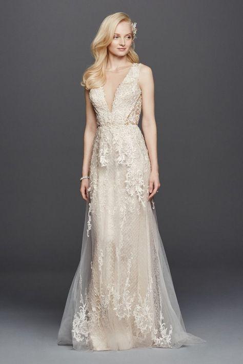 994ee37f53466 White by Vera Wang Halter Sheath Wedding Dress Style VW351346, Ivory, 12