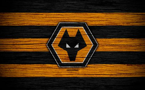 Download wallpapers Wolverhampton Wanderers FC, 4k, EFL Championship, soccer, football club, England, Wolverhampton Wanderers, logo, wooden texture, FC Wolverhampton Wanderers