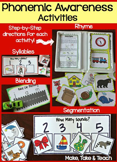 Phonemic Awareness Activities! Just Grab and Go. The activities store nicely in old VHS cases.