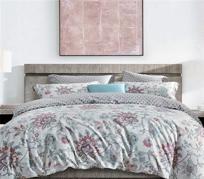 Extra Long Twin Dorm Room Comforter Multi Colored Flowered College